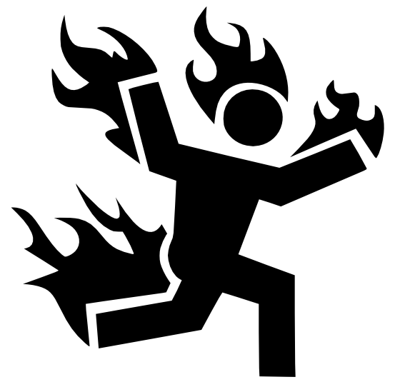 Image result for person on fire